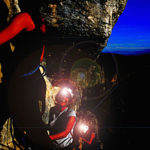 Via ferrata nocturne