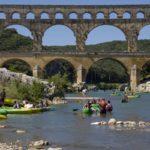 canoe au pont-du-gard