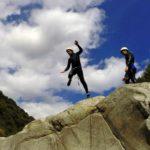 canyoning en Cévennes - saut